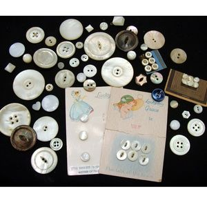 Other - Vintage pearl button lot old shell collection